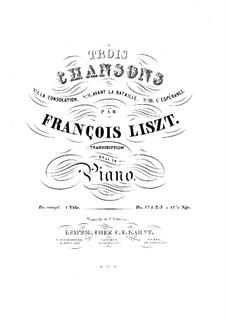 Geharnischte Lieder, S.511: Geharnischte Lieder by Franz Liszt