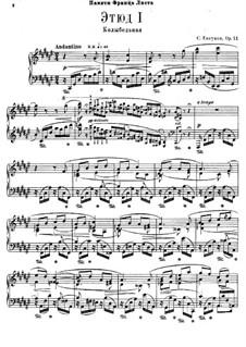 Twelve Transcendental Etudes, Op.11: Complete set by Sergei Lyapunov