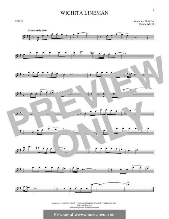 Wichita Lineman: For cello by Jimmy Webb
