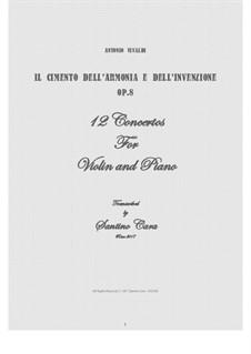 12 Concertos: Version for violin and piano by Antonio Vivaldi