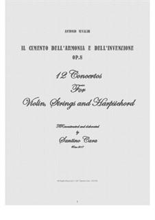 12 Concertos: Full score, parts by Antonio Vivaldi