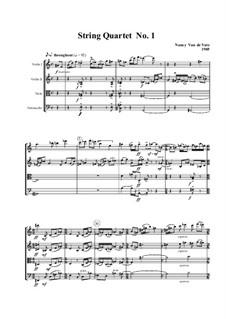 String Quartet No.1: Score by Nancy Van de Vate