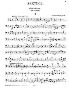 Sextet for Piano and Strings No.3, Op.43: Double bass ad libitum part by René de Boisdeffre