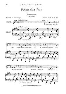 Poème d'un jour, Op.21: No.1 Poème d'un jour (Rencontre) by Gabriel Fauré