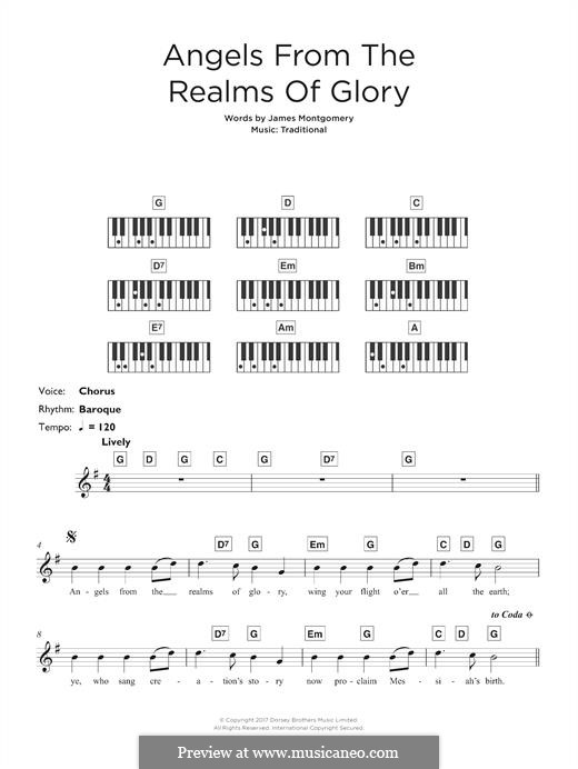 Angels from the Realms of Glory: For keyboard by folklore