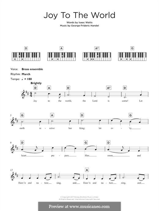 Joy to the World: For keyboard by folklore