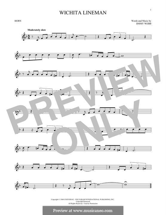 Wichita Lineman: For horn by Jimmy Webb
