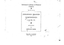 Complete set: Version for piano four hands by Johannes Brahms