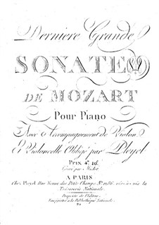 Derniere grande sonate de Mozart: Derniere grande sonate de Mozart by Anton Eberl
