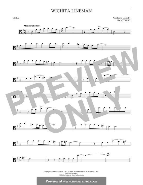 Wichita Lineman: For viola by Jimmy Webb