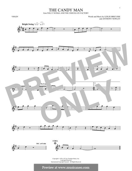 The Candy Man (from Willy Wonka and The Chocolate Factory): For violin by Anthony Newley
