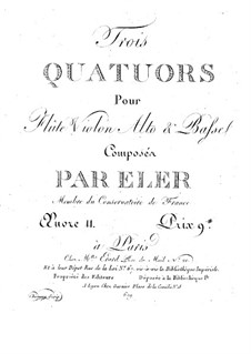 Three Quartets for Flute and String, Op.11: Flute part by André-Frédéric Eler