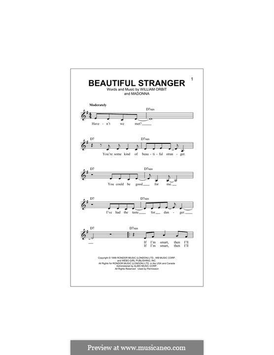 Beautiful Stranger: Melody line by Madonna, William Orbit