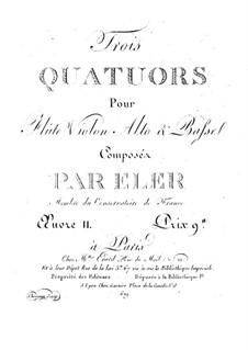 Three Quartets for Flute and String, Op.11: Viola part by André-Frédéric Eler
