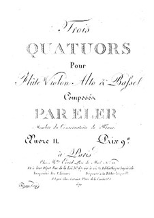Three Quartets for Flute and String, Op.11: Cello part by André-Frédéric Eler