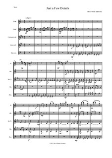 Just a Few Details: For wind quintet by David W Solomons