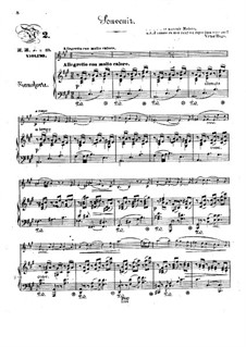Pensées fugitives, Op.30: Souvenir, for violin and piano by Stephen Heller, Heinrich Wilhelm Ernst