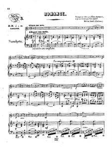 Pensées fugitives, Op.30: Romance, for violin and piano by Stephen Heller, Heinrich Wilhelm Ernst