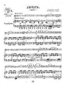 Pensées fugitives, Op.30: Agitato, for violin and piano by Stephen Heller, Heinrich Wilhelm Ernst