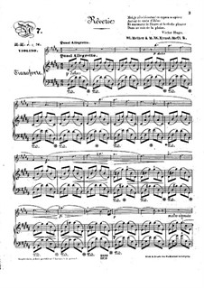 Pensées fugitives, Op.30: Reverie, for violin and piano by Stephen Heller, Heinrich Wilhelm Ernst