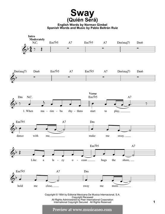 Sway (Quien Sera): Melody line by Pablo Beltran Ruiz