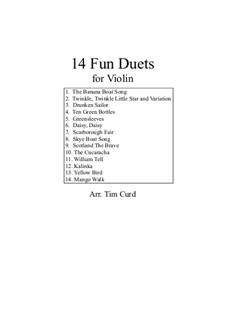 14 Fun Duets: For violin by folklore