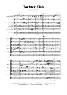 Des Herrn Einzug (Tochter Zion): For saxophone quintet by Georg Friedrich Händel