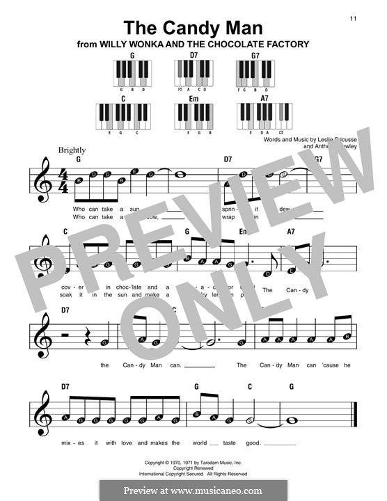 The Candy Man (from Willy Wonka and The Chocolate Factory): For piano by Anthony Newley