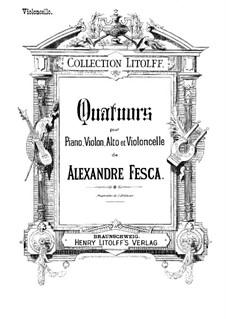 Piano Quartet No.1, Op.26: Cello part by Alexander Fesca