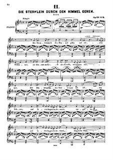 Six Songs, Op.29: No.3-4 by Alexander Fesca