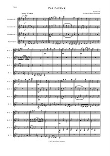 Past 2 o'clock: For clarinet quartet by folklore, David W Solomons
