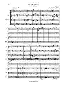 Past 2 o'clock: For wind quartet by folklore, David W Solomons