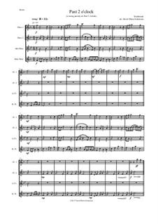 Past 2 o'clock: For flute quartet by folklore, David W Solomons