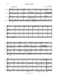 Past 2 o'clock: For saxophone quartet by folklore, David W Solomons