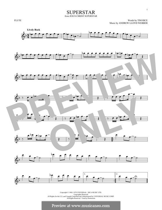 Superstar: For flute by Andrew Lloyd Webber
