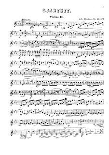 String Quartets No.1-2, Op.51: Violin II part by Johannes Brahms