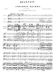 Piano Quartet No.2 in A Major, Op.26: Full score by Johannes Brahms