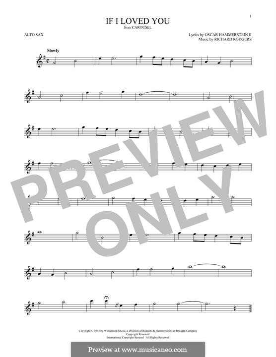 If I Loved You (from Carousel): For alto saxophone by Richard Rodgers