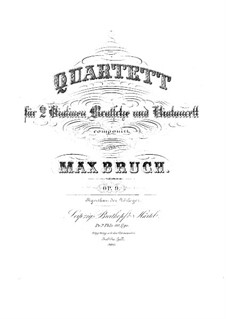 String Quartet No.1 in C Minor, Op.9: Violin II part by Max Bruch