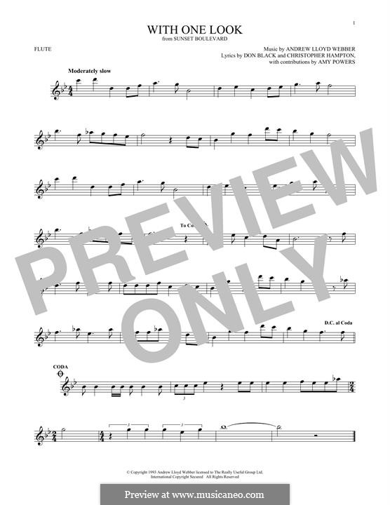 With One Look: For flute by Andrew Lloyd Webber