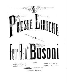 Quattro poesie liriche (Four Lyric Poems), BV 191 Op.40: No.1-2 Primavera, Estate (Spring, Summer) by Ferruccio Busoni