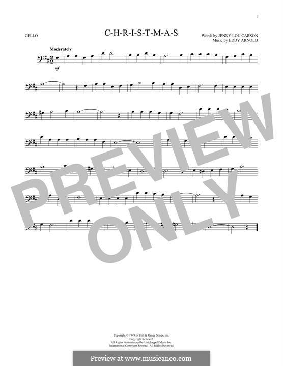 C-H-R-I-S-T-M-A-S (Perry Como): For cello by Eddy Arnold