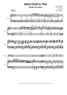 What Child is This with We Three Kings: Trombone duet by Unknown (works before 1850), John H. Hopkins Jr.