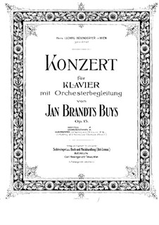 Concerto for Piano and Orchestra, Op.15: Arrangement for two pianos four hands by Jan Brandts-Buys