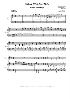 What Child is This with We Three Kings: Duet for soprano and alto saxophone by Unknown (works before 1850), John H. Hopkins Jr.