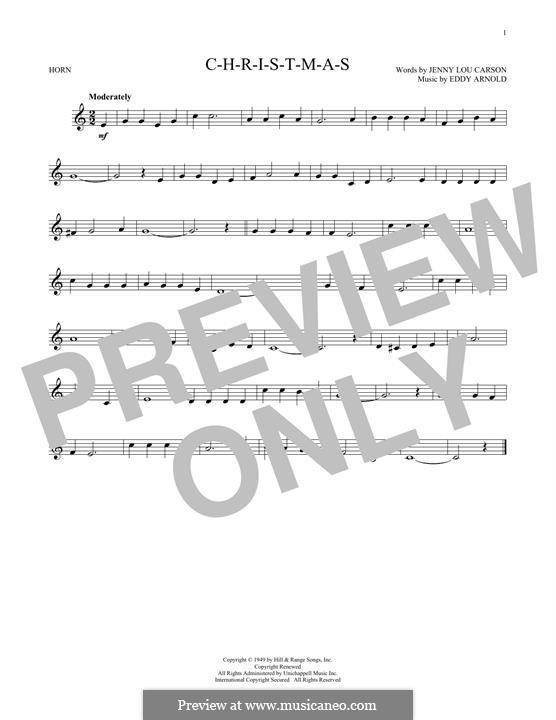 C-H-R-I-S-T-M-A-S (Perry Como): For horn by Eddy Arnold