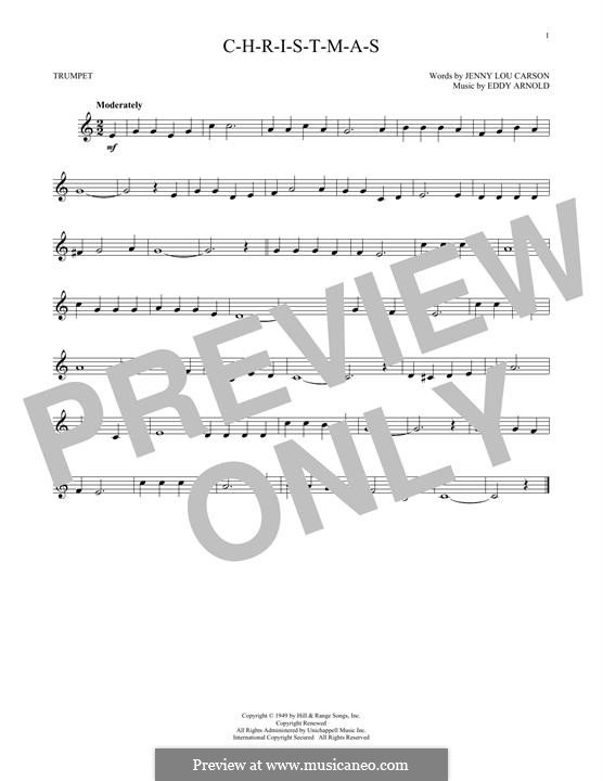 C-H-R-I-S-T-M-A-S (Perry Como): For trumpet by Eddy Arnold