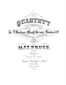 String Quartet No.1 in C Minor, Op.9: Violin I part by Max Bruch