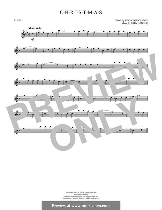 C-H-R-I-S-T-M-A-S (Perry Como): For flute by Eddy Arnold