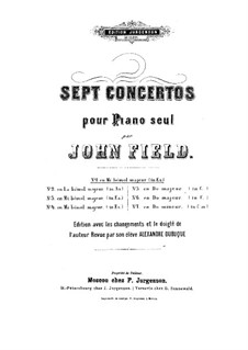 Concerto for Piano and Orchestra No.1 in E Flat Major, H.27: Concerto for Piano and Orchestra No.1 in E Flat Major by John Field